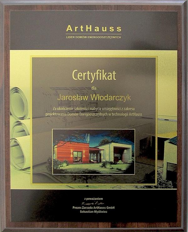 certyfikat-art-haus-dla-architekta-jaroslawa-wlodarczyka.jpg