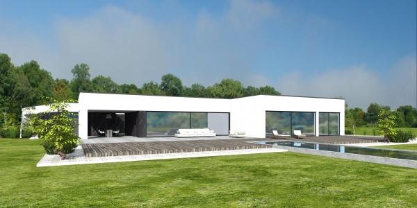 Projekt rezydencji luksusowej z basenem